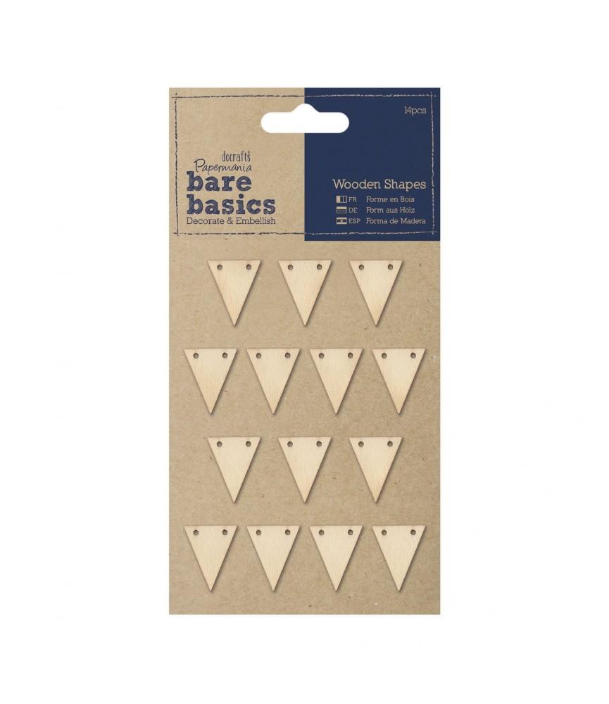 Banderines adhesivos de madera