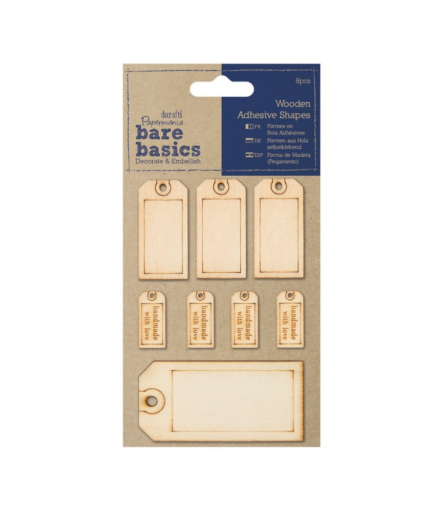 Etiquetas adhesivas de madera