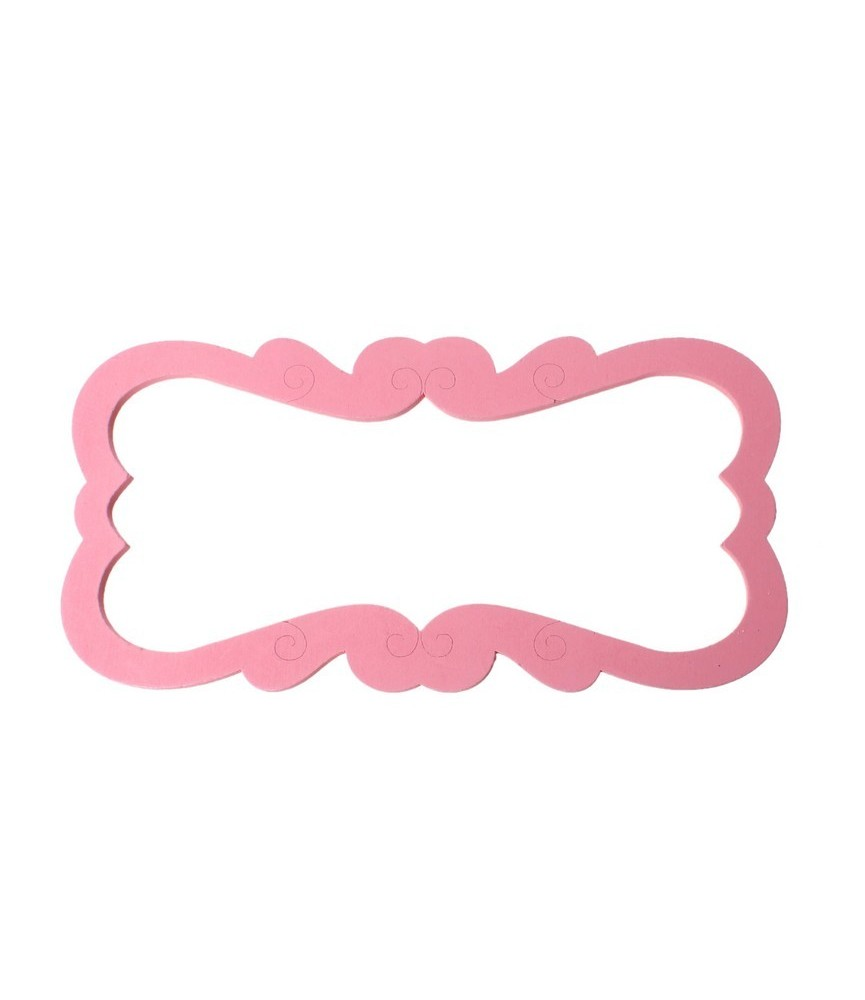 Marco de madera rectangular color rosa