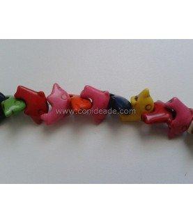 Pack 5 Cuentas de piedra delfines 20x14 mm
