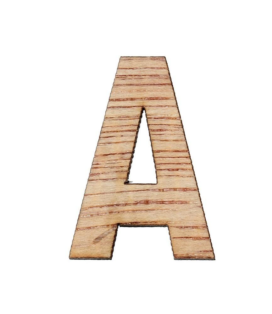 Letras de madera 3cm