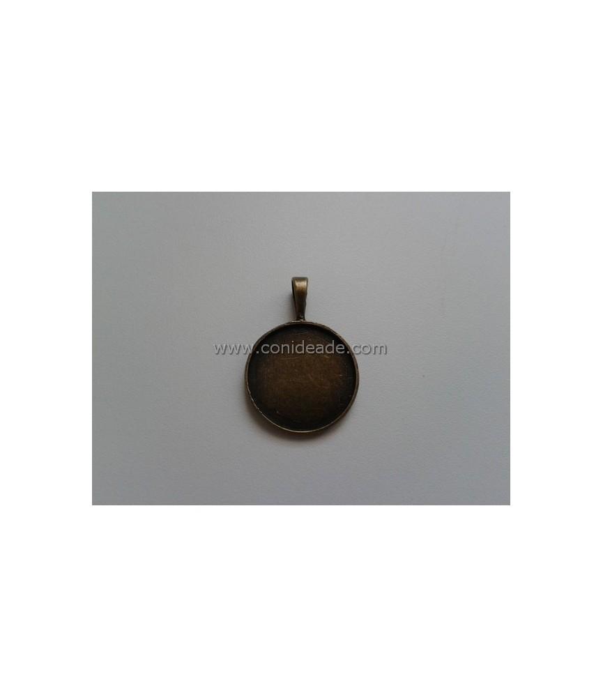 Base camafeo redondo bronce 25 mm