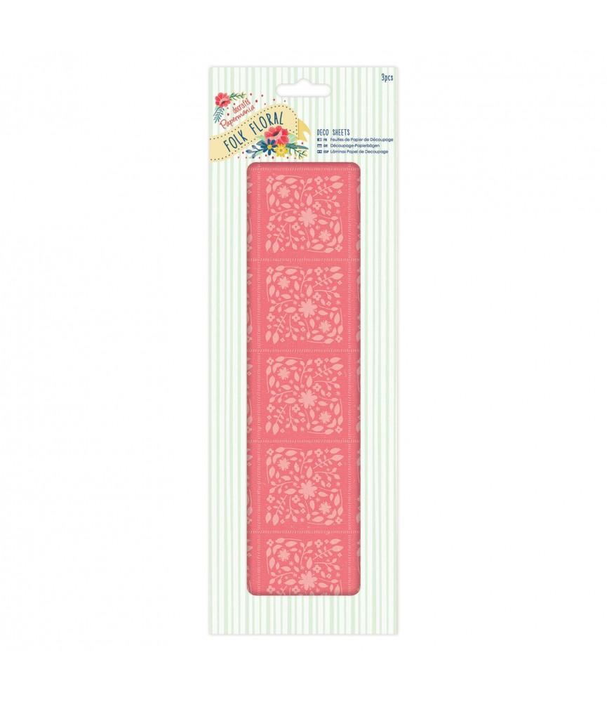 Pack 3 hojas para decorar – Coral Folk Floral