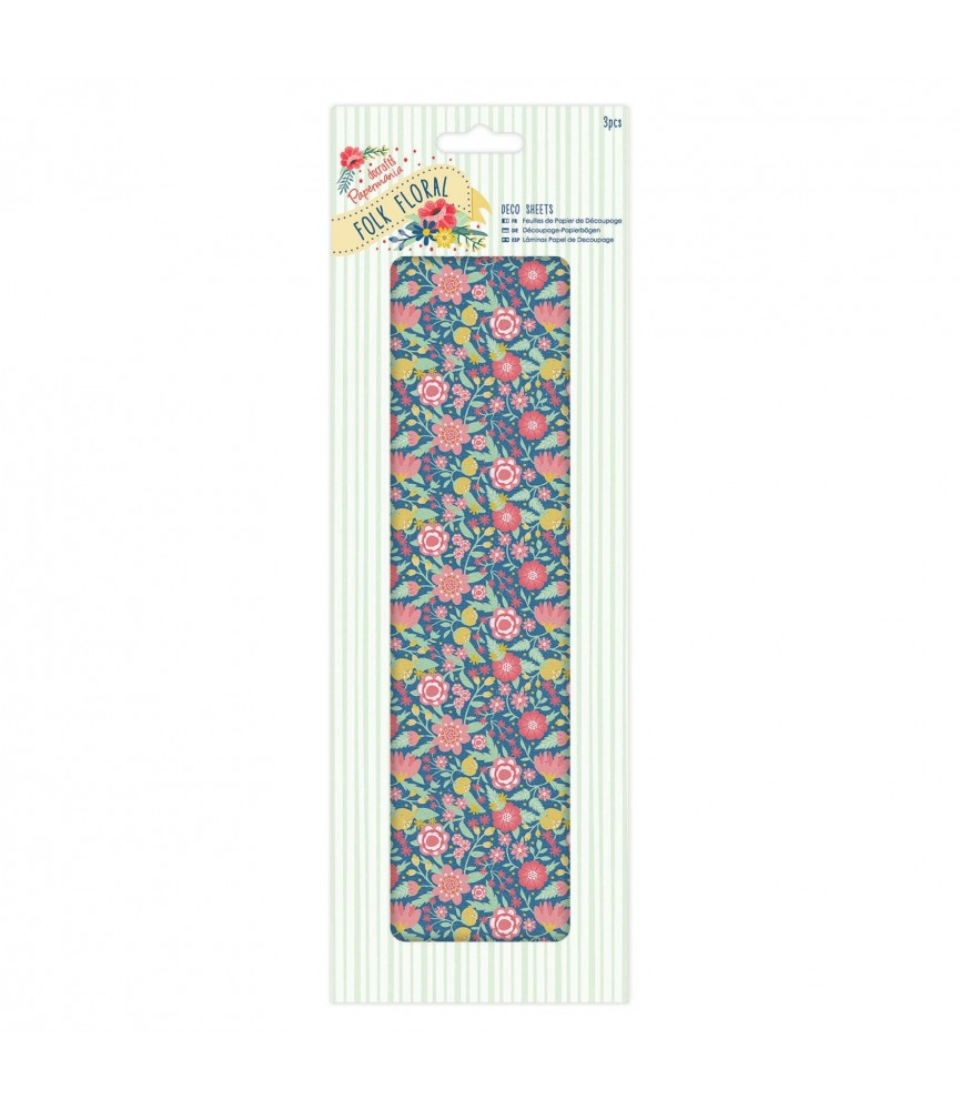 Pack 3 hojas para decorar – Big floral Burst