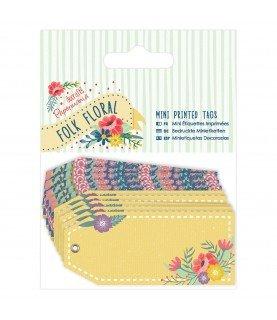 Comprar Pack 10 mini etiquetas Decoradas Folk Floral de Conideade
