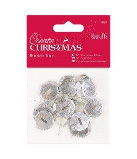 Comprar Pack 10 topes para bolas de navidad plata de Conideade