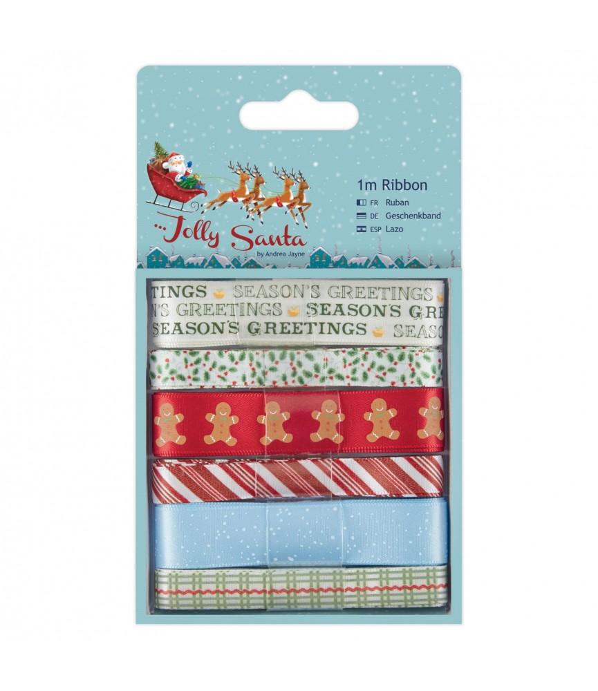 Pack 6 cintas mod Jolly Santa