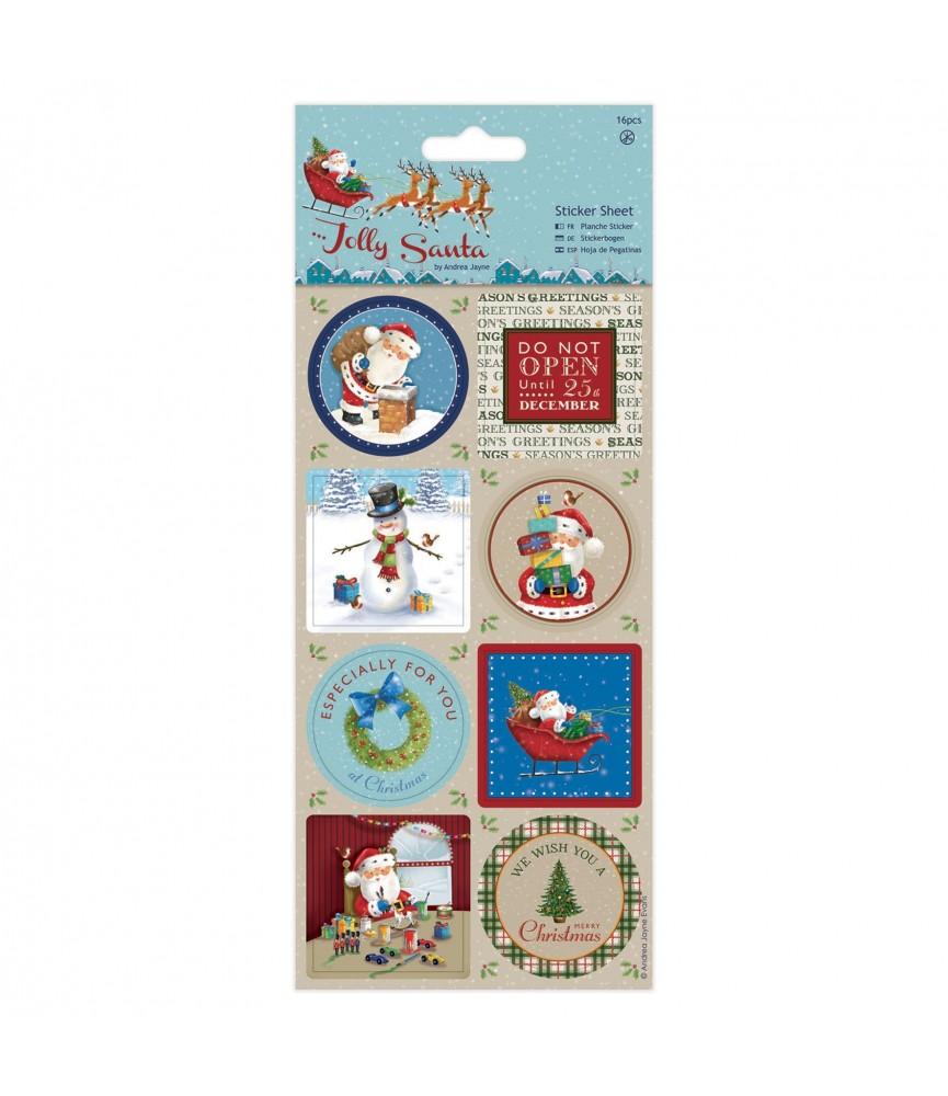 16 pegatinas de navidad