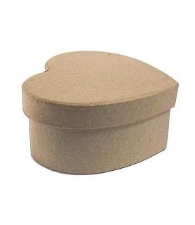 Comprar Caja papel maché corazón 15x12,5x7cm de Conideade