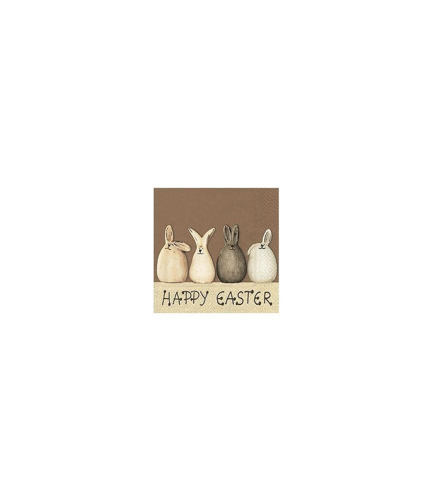 Servilleta Easter bunnies 33x33 cm