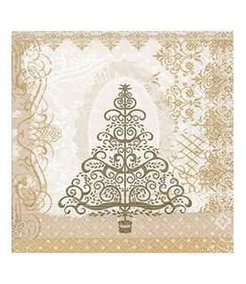Comprar Servilleta Baroque tree gold 33x33 cm de Conideade