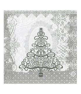 Imagén: Servilleta Baroque tree silver 33x33 cm