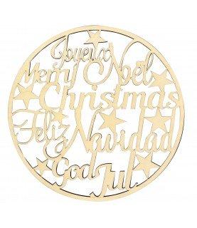 Silueta feliz navidad