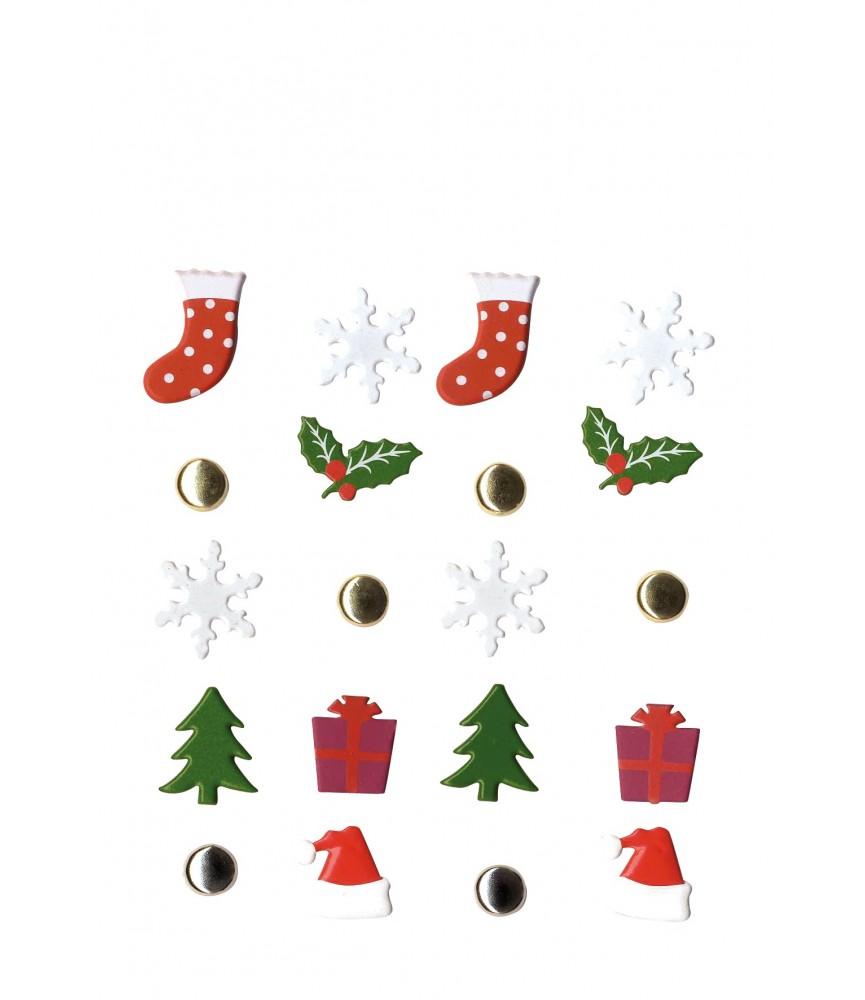 Pack 20 brads de navidad