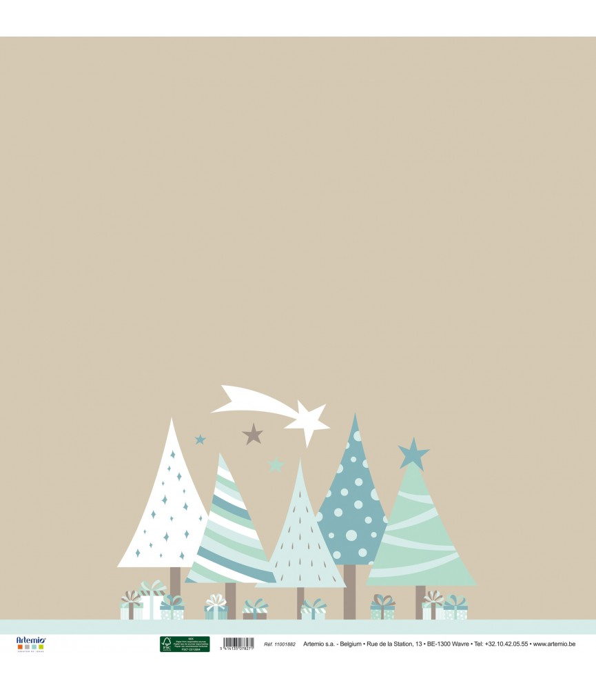 Papel 30x30 arboles de navidad