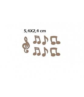 Silueta notas musicales