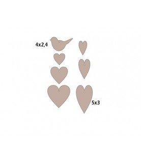 Silueta corazones