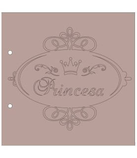 Albúm cartón Princesa 20x20 cm