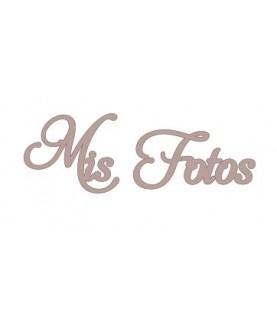 """Letras """"Mis Fotos"""""""