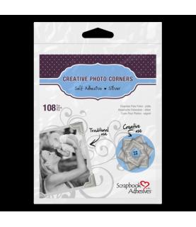 Pack de 108 Esquinas para foto plata