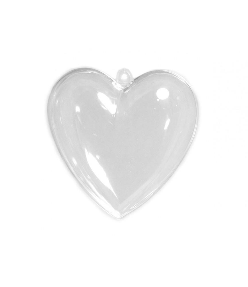 Colgante corazón plastico 10 x 3 cm