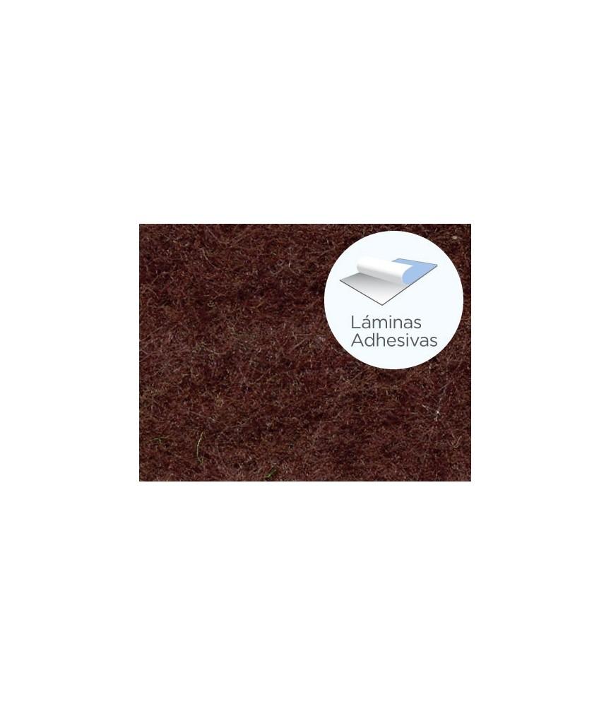 Fieltro adhesivo marrón chocolate para manualidades