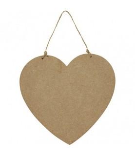 Corazón de madera para colgar