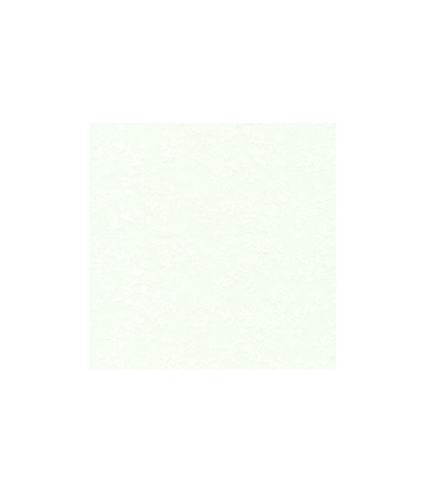 Tela algodón blanco con estampado de flores