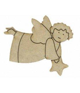 Silueta angelito con estrella