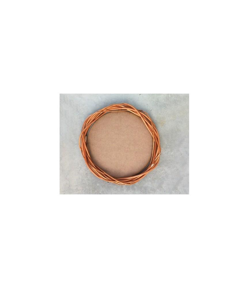 Corona redonda de mimbre 20 cm +DM