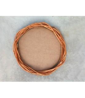 Corona redonda de mimbre 30 cm +DM