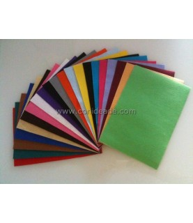 Fieltro adhesivo de colores para manualidades