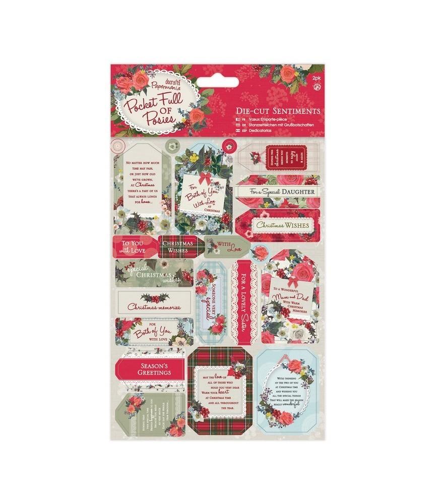 Pack 2 hojas con etiquetas troqueladas Pocket full of posies
