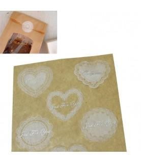 Pack 9 pegatinas blondas de encaje
