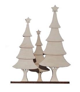 Comprar Trio Arboles de navidad 31x24 cm de Conideade