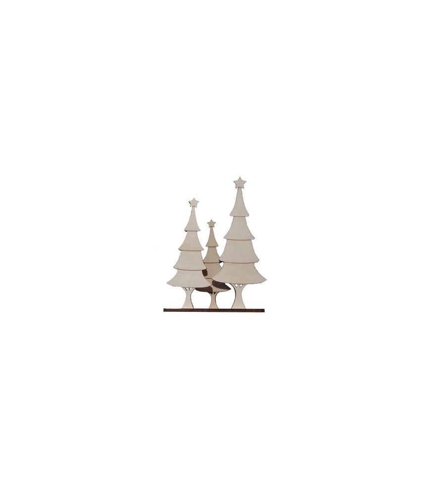 Trio Arboles de navidad 31x24 cm