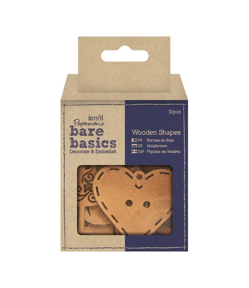Pack 10 figuras de madera costura