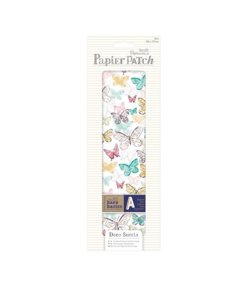 Pack 3 hojas para decorar – butterflies