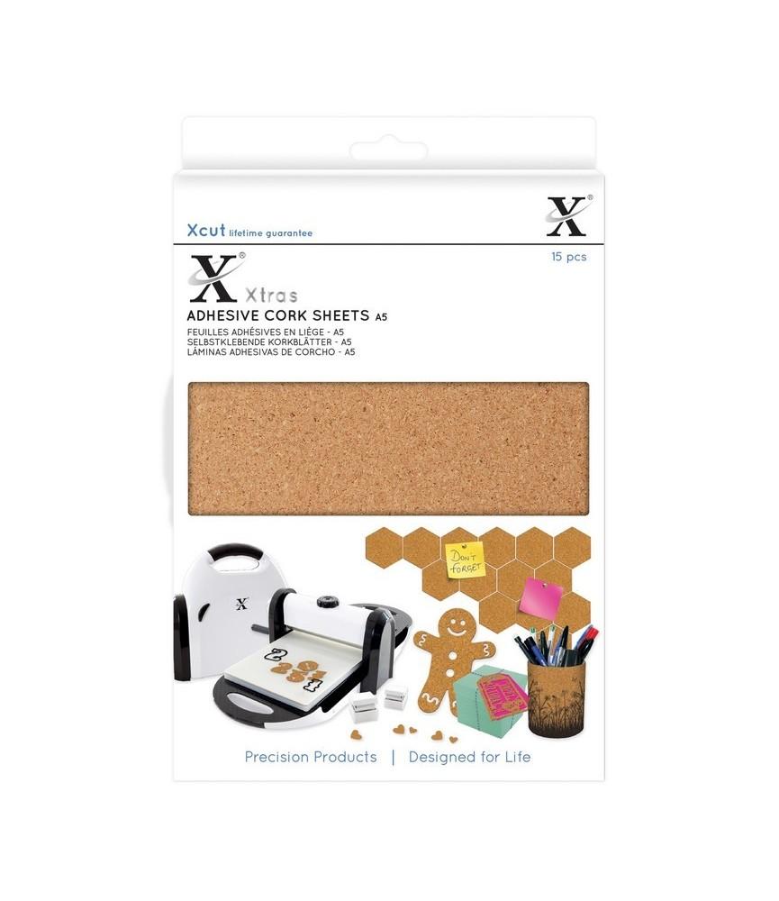 15 láminas de corcho adhesiva A5