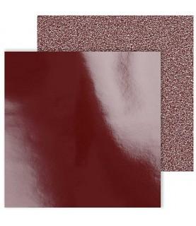 Imagén: Pack 2 hojas brillo y purpurina 30x30 rojo