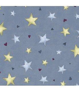 Tela gorjuss rainbow dreams estrellas azul