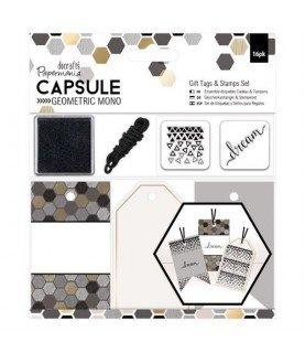 Comprar Set de Etiquetas y sellos geometric mono de Conideade