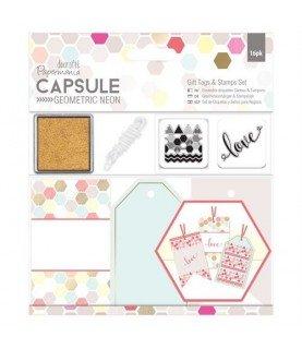 Comprar Set de Etiquetas y sellos geometric neón