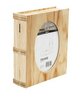 Caja libro con marco de madera