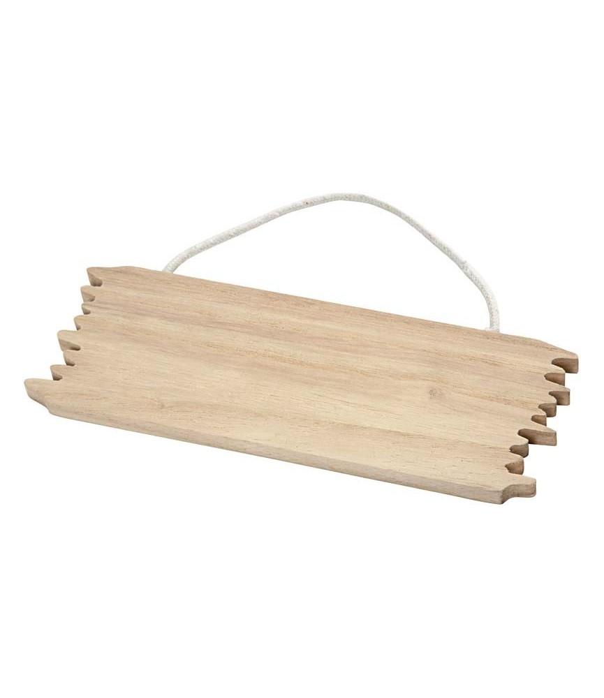 Placa de madera para colgar pequeña