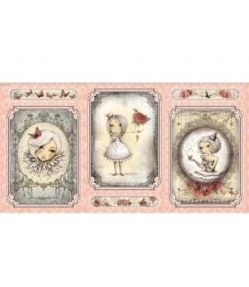 """Imagén: Panel mirabelle """"la vie en rose"""" rosa"""