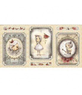 """Panel mirabelle """"la vie en rose"""" gris"""