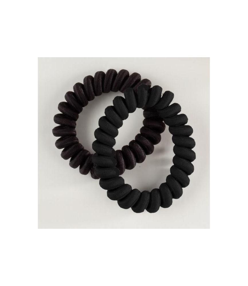 Coletero en espiral forrado negro