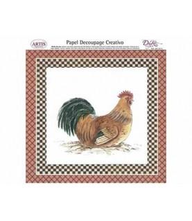 Papel decorativo para pegar gallina