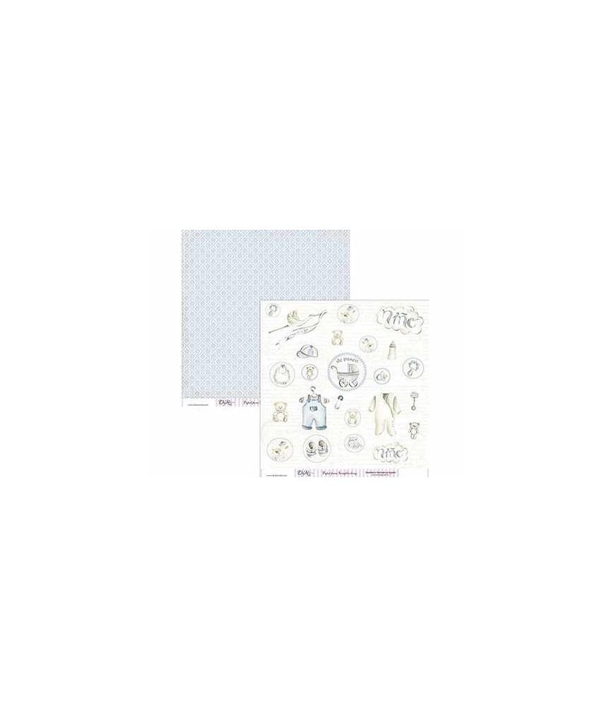 fd60014ee Papel scrap bebe niño 30x30 - papel decorado para scrapbooking